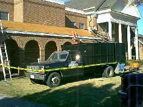 Replacing shingles on...