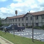 Shingle replacement on Super 8 Motel, Franklin, Virginia.