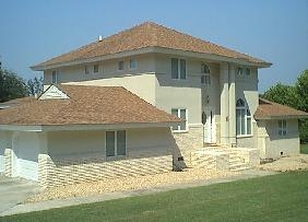 Shingle installation on a palacial estate...